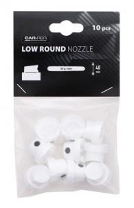 Car-Rep Nozzle Set 10 pcs Narrow Round Low 40mm (white-black)