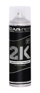 Spraypaint Car-Rep 2K Jet Black RAL9005 500ml